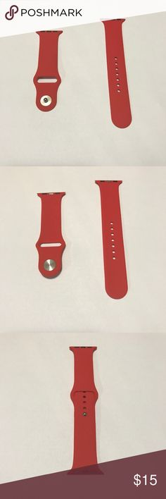 Red Apple Watch Band brand new red Apple watch band, available for 38mm or 42mm watch ! Accessories Watches
