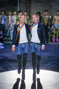 Love is stronger than hate -Dsquared2 Spring 2017 Menswear Fashion Show