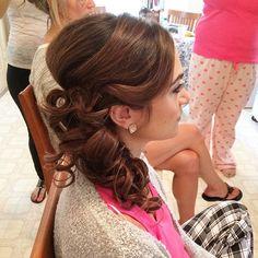 Side pony bridesmaid style