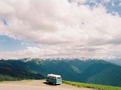 The van on the ridge / photo by Taylor Mccutchan VW Camper van