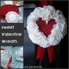 plastic plate and doilies - so easy and cute!