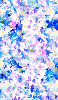 Abstract florals by Maria Giannakakis. Featured in a collage by Liz Nehdi at http://liznehdi.com/blog/2014/4/30/fresh-picks-4 #pattern #florals