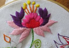 This is an Embroidery Stitch. It is hand stitched. As you can see it looks very difficult especially if you do not have the patience.