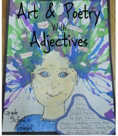 Crazy...Awesome...Fun...Wacky...Wild We've been studying adjectives this week. We've also been working on writing some adjective poetry to go along with a crazy and fun art project. I think they turned out great! Check out this idea for using the arts to teach grammar