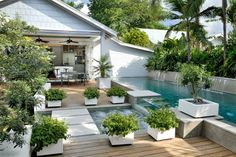 Congratulations, you have decided to buy a new swimming pool or redesign your old one. You will now need to give serious thought to swimming pool designs. You should certainly take your time making the decision because the design of… Continue Reading → Small Pool, Patio Makeover, Large Backyard Landscaping, Backyard Design, Backyard Landscaping Designs, Hardscape Design, Small Pool Design, Large Backyard