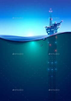 Buy Oil Offshore Drilling Platform in the Ocean by AndSus on GraphicRiver. Oil offshore Drilling Platform in the ocean at dawn. Beautiful background for oil industry. Oil rig in the light of l. Oilfield Trash, Oilfield Life, Oil Company Logos, Oil Rig Jobs, Oil And Gas News, Petroleum Engineering, Oil Platform, Drilling Rig, Oil Industry