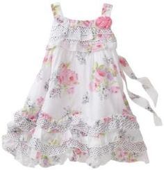Biscotti Baby-Girls Infant Butterfly Garden Strappy Baby Dress