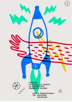 Graphic Design Marco_oggian-Flyer-Grafik-Inspiration-Fusee Mother Nature Loves an Oakland Garden Put Illustration Design Graphique, Graphic Illustration, Night Illustration, Graphic Design Posters, Graphic Design Inspiration, Kids Graphic Design, Poster Designs, Graphic Designers, Web Design