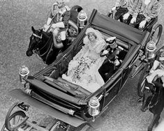 Princess Diana and Prince Charles, Wedding Day, London, 1981
