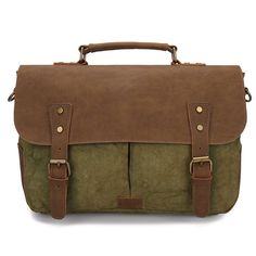 Castle Rock Vintage Canvas and pull-up Leather Shoulder Messenger Laptop Bags * See this great product. (This is an Amazon Affiliate link and I receive a commission for the sales)