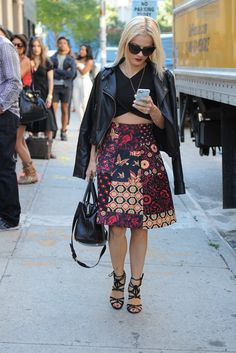 Streetstyle during NYFW, Spring 2014