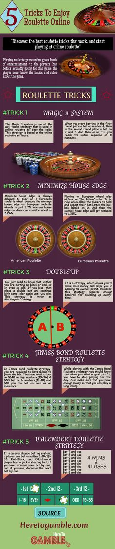 This #infographic highlights the top 5 #Tricks To Enjoy #Roulette Online. #casino