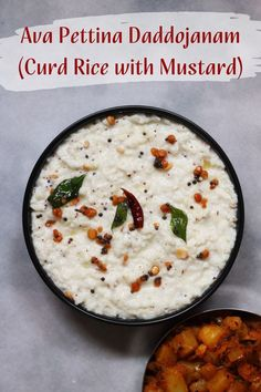 Add some powdered mustard to the classic Thayir Sadam or tempered curd rice and you have this traditional dish from AndhraPradesh. Do it try it this way! #vegetarian #Indianfood #SouthIndianFood #vegetarianfood #curdrice #curd #mustard #aahaaram Andhra Recipes, Indian Food Recipes, Vegetarian Recipes, Eat Happy, South Indian Food, Cheeseburger Chowder, Curry, Soup