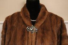 Vintage Genuine CANADIAN WHISKEY MINK Fur Cropped Coat Jacket-STUNNING! #CHATEAUFURSLIMITEDOttawaCanada #BasicCoat