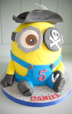 Pirate Minion Cake