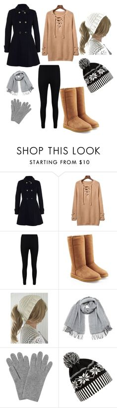 """Winter outfit"" by wonderingboofashionaddvice ❤ liked on Polyvore featuring Miss Selfridge, Boohoo, UGG, Vero Moda, L.K.Bennett and WithChic"