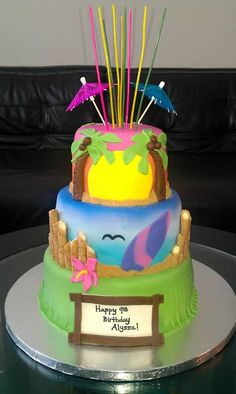 This is the cake I made for my daughter's B-day!  You can check out other cakes by Treats by Tracey on the clickable pic, and u can find me on Facebook!  :)