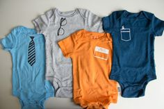 DIY Baby Boy Onesies | Lovely Indeed