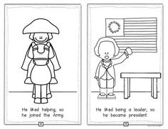 Presidents' Day {George Washington} Emergent Reader for Kindergarten. 10 page reader with blackline and color versions. $