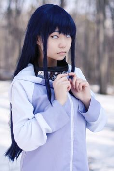 It looks like Hinata Hyuuga stepped out of the anime, absolutely the greatest cosplay of Hinata ever.