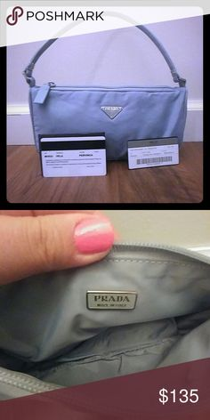Authentic Prada Tessuto Sport Brand new with certificates included. High quality that was made in Italy. Rare beautiful periwinkle color. The Prada MV633 bag is great for going out, and fits just enough for the night or day.   ? Prada MV633 ?Bag in Pervinca (Periwinkle)  ? Retail Value of $250  ?? Signature Prada Vela Nylon?  ? Zipper top.?  ? One main compartment with enough space for everyday necessiti Prada Bags Mini Bags