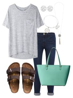 One Item Contest by rob-17 on Polyvore featuring polyvore fashion style rag & bone/JEAN Frame Denim Kate Spade Alex and Ani Allurez Dorothy Perkins Birkenstock clothing