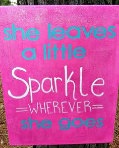 Girl Sparkle Canvas painting by RusticGraceuponGrace on Etsy, $29.99