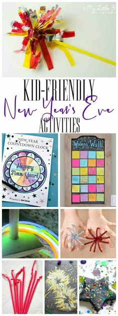 Countdown to the New Year with your kids with these activities that are kid-friendly and a perfect way to celebrate New Year's Eve together as a family. #newyearseve #kids #rainydaymum