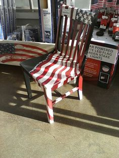 American Flag Chair (375×500) | Painted Furniture | Pinterest | Paint  Furniture, Furniture Ideas And Craft