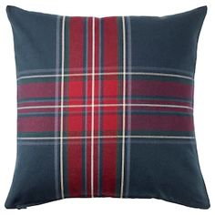 INGERILSE Cushion cover, blue/red, Your home is your castle and INGERILSE cushion cover with tartan pattern makes it warm and cozy. Dare to mix with other colors and patterns – like JUNHILD cushion cover, for a bolder look. Cushion Cover Pattern, Couch Cushion Covers, Cushion Pads, Cushions On Sofa, Throw Pillow Covers, Cushion Pillow, Ikea Bank, Lohals, Motif Tartan