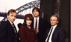 Our Friends in the North - an amazing series, I wonder what happened to these guys? Christopher Eccleston, Gina McKee, Mark Strong and Daniel Craig. Gina Mckee, Old Age Makeup, Mark Strong, Bbc Two, Dan Smith, Uk Tv, Christopher Eccleston, English Movies, Daniel Craig