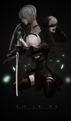 ArtStation - AII 2B 9S, 18 (Tony Sun) - More at https://pinterest.com/supergirlsart #a2 #nier #automata #fanart