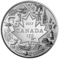 2017 Heart of a Nation Celebrating Canada's 150th Maple Leaf $3 Pure Silver Coin  Price : $27.95  Ends on : 1 week Order Now