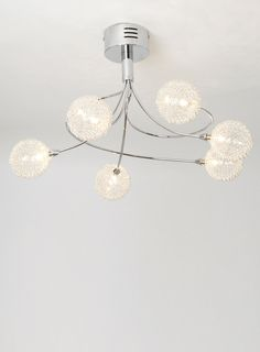 Bhs Allium Wall Lights : Chrome Ina Flush Ceiling Light Fitting - BHS Lounge dining room Pinterest Ceiling light ...
