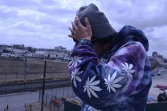 Marijuana on the sleeves of the hoody!