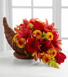 Harvest Cornucopia - Royal Fleur Florist - Larkspur, CA 94939