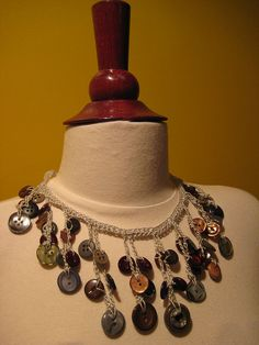 Ravelry: Crochet Necklace with Buttons pattern by Alessandra Hayden