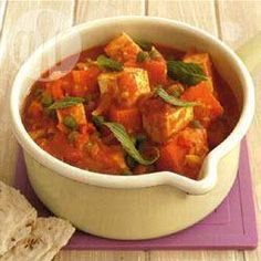Sweet potato curry with paneer @ allrecipes.co.uk