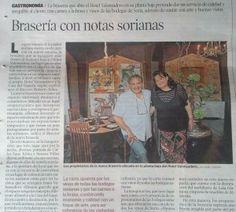 Hoy, Heraldo de #Soria ha dedicado un artículo a nuestro nuevo #restaurante La Roca, ¡muchísimas gracias!