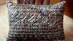 Muslin frill animal print  Silk shantung lumbar pillow by SABDECO, €22.00