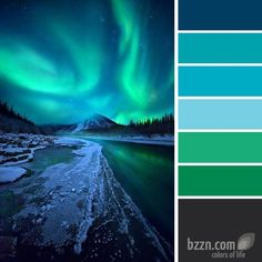 Billedresultat for nordic lights color