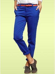 Gap Broken-in straight khakis in Active Blue