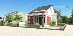 Rumah Memanjang ke Samping 12 x 10 Meter Milik Bapak Febrianto - Jasa Desain Rumah Home Design Plans, Minimalist Home, House Plans, Floor Plans, Home Fashion, House Design, Flooring, Mansions, Architecture