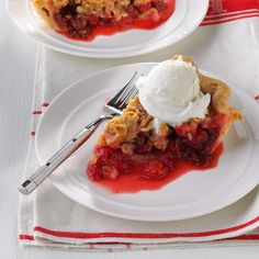Michigan Cherry Pie Recipe -This tart Michigan cherry pie is delicious with the streusel topping but even better crowned with a scoop of vanilla ice cream. —Diane Selich, Vassar, Michigan