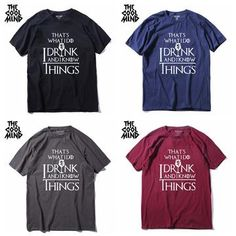 CoolMind T-Shirts 27 Versions Game Of Thrones Men, Cool T Shirts, Just For You, Tees, Casual, Mens Tops, Bob, Drink, Watch