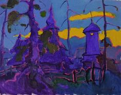 "Saatchi Art Artist Shandor Alexander; Painting, ""Evening Guklivy"" #art"