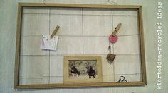 kiertoidea - recycled ideas: An old bulletin board in a new way!