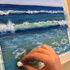 Acrylic Painting Lessons Beach Mural Paintings - Alles Over Schilderen Soft Pastel Art, Chalk Pastel Art, Pastel Artwork, Oil Pastel Paintings, Oil Pastel Drawings, Chalk Pastels, Chalk Art, Art Drawings, Beach Paintings