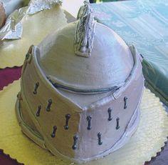 knight cakes | 3D knight's head cake
