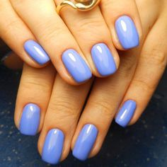This manicure will be suitable for everyday life and for work. All nails are varnished in blue. This variant will ...